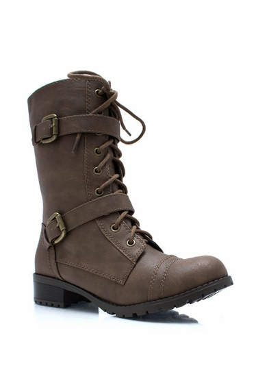 Mess Hall Double Buckle Boots