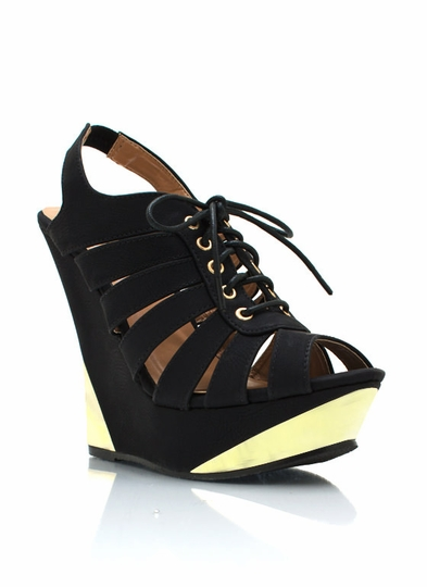 Metal Accent Cut-Out Wedges