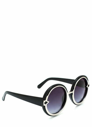Metal In Round Sunglasses