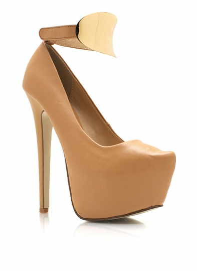 Metal Plate Ankle Strap Platforms