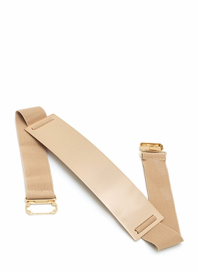 Metallic Buckle Belt