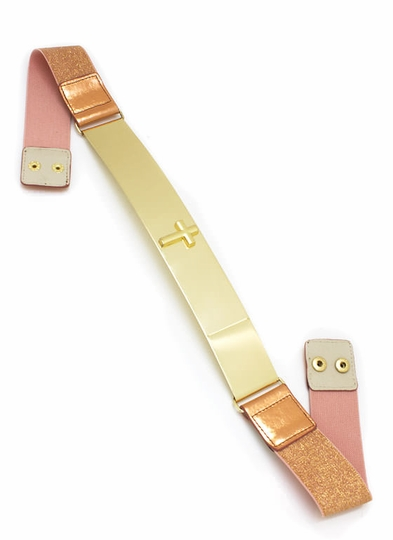 Metal Plate Cross Stud Belt