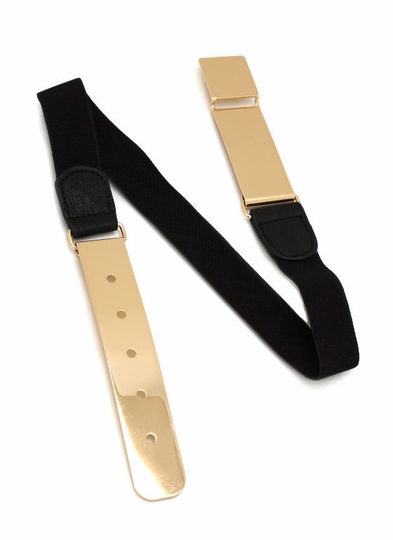 Metal Plate Stretch Belt