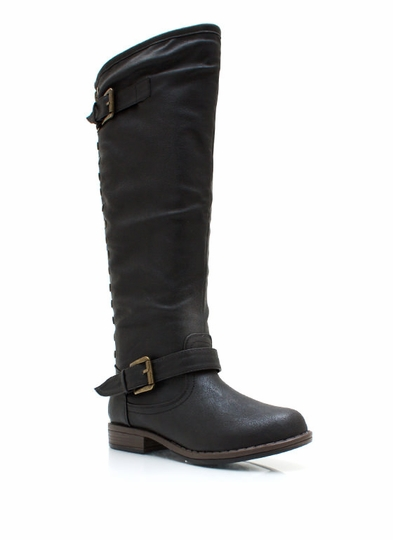 Metal Stud Muffin Riding Boots