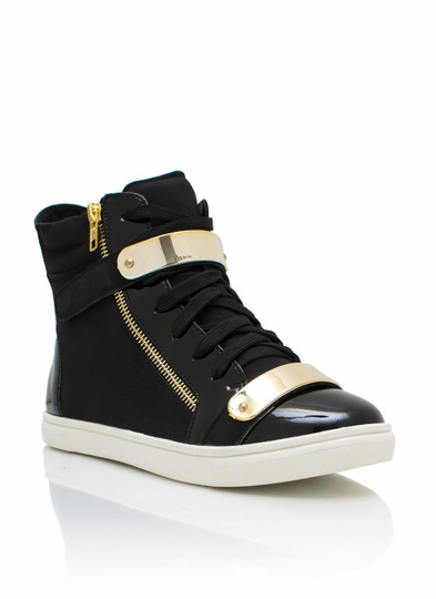 Metallic Accent Nubuck Sneakers