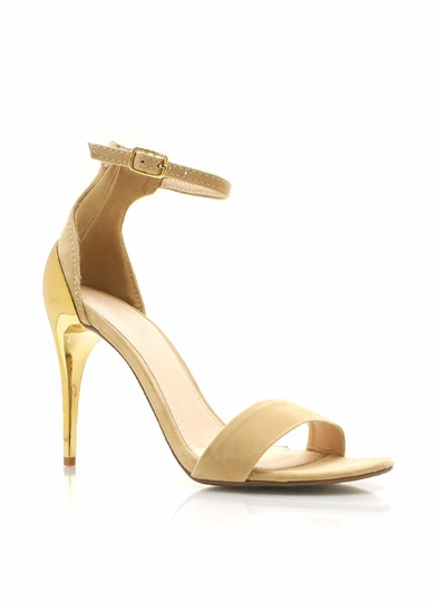 Metallic Accent Single-Sole Heels