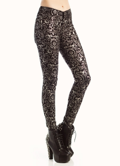 Metallic Baroque Jeans