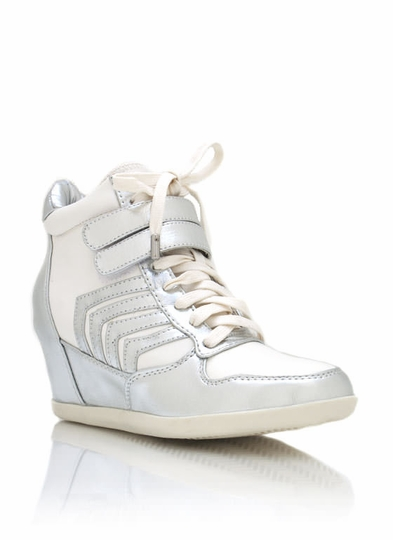 Metallic Combo Wedge Sneakers