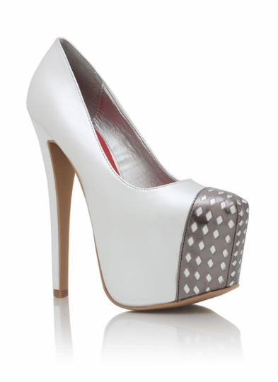Metallic Cut-Out Cap Toe Heels