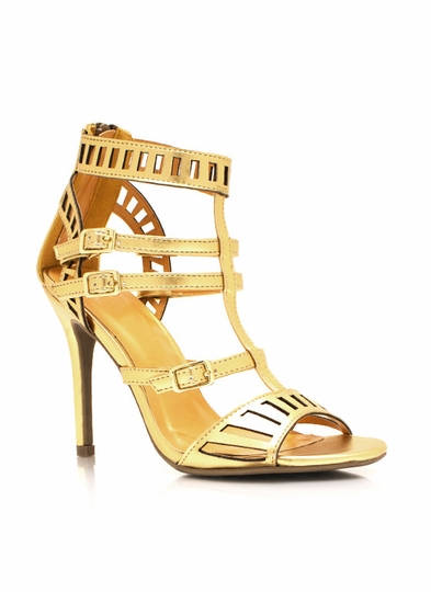 Metallic Laser Cut Out Heels