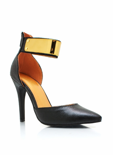 Metallic Plate Single-Sole Heels