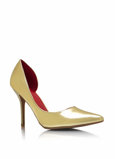 Metallic Pointy Toe Pumps