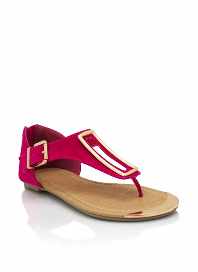 Metallic Rectangle Accent Sandal