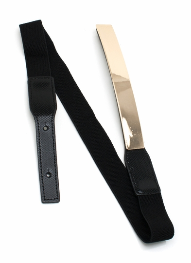 Metallic Rectangle Stretch Belt
