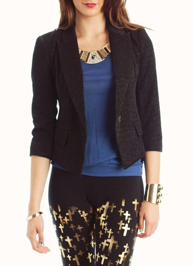 Metallic Thread Blazer