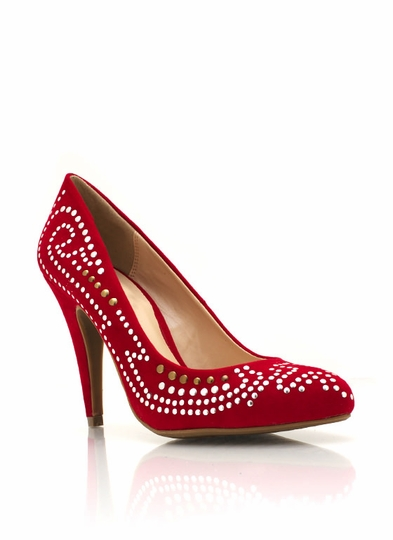 Microstud Embellished Pumps