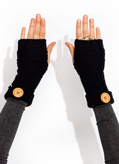 Mixed Knit Fingerless Mittens