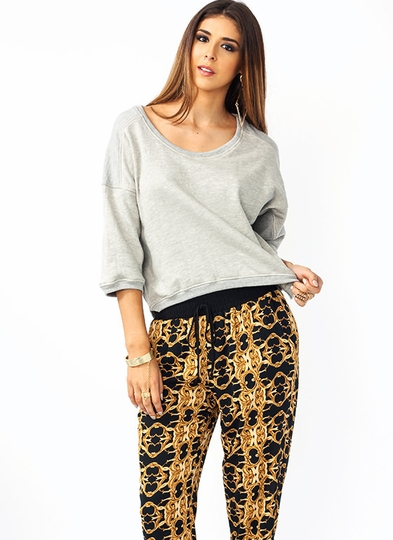 Mixed Up Dolman Sweatshirt