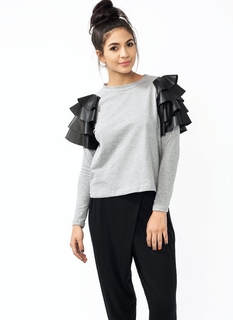 Mixed Up Ruffled Tee