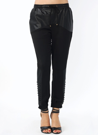 Mixed Up Studded Lounge Pants