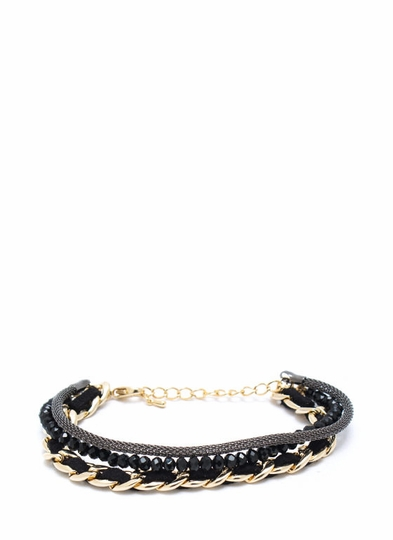Mixed Up Woven Chain Bracelet