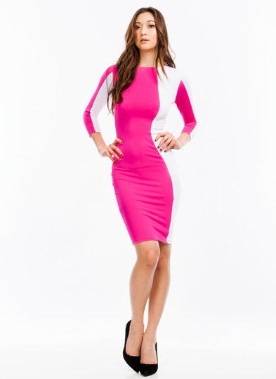 Modern Mod Midi Bodycon Dress