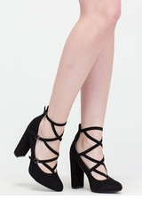 Modern Sophisticate Strappy Pumps