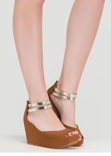 Moons Over My Faux Nubuck Wedges