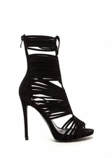Most Wanted Faux Suede Caged Heels