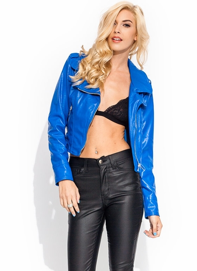 Moto Skills Faux Leather Jacket
