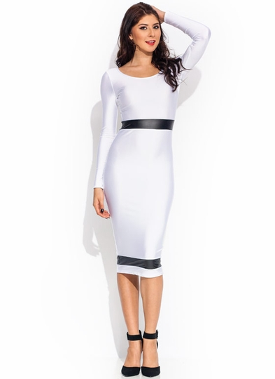 Neat And Trim Shiny Midi Dress
