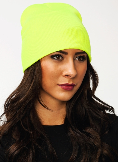 Neon Of Your Business Sweater Beanie