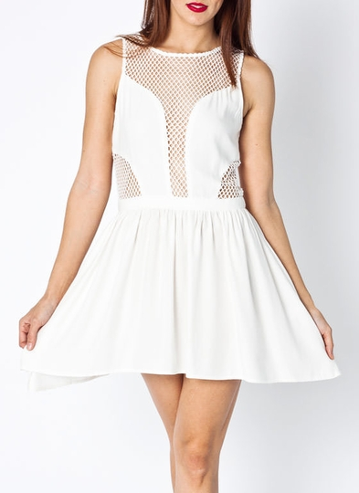 Net Inset Dress