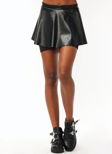 Netted Biker Skirt