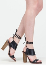 New Junction Faux Leather Chunky Heels
