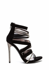 Night Show Strappy Caged Heels