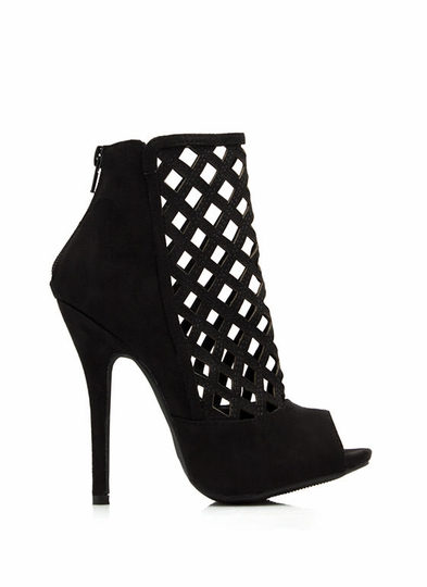 No Pane No Gain Cut-Out Booties
