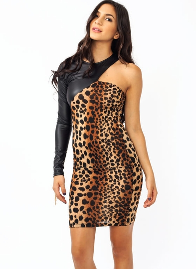 Not A Cheetah Asymmetrical Dress