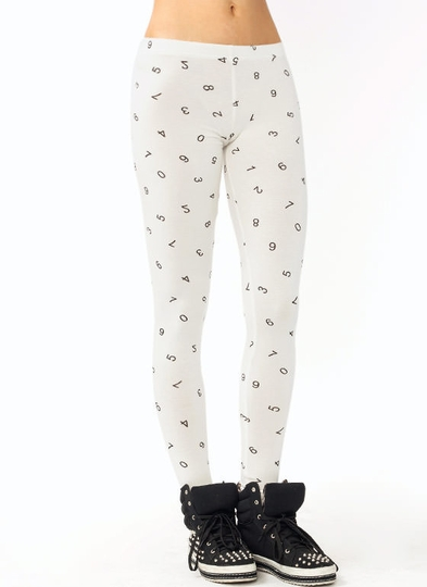 Number Print Leggings