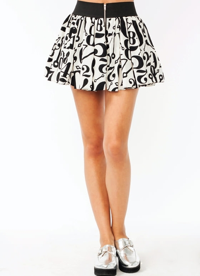 Numbered Skater Skirt