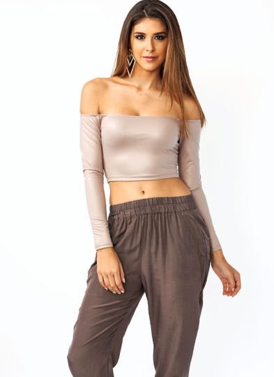 On The Edge Cropped Top