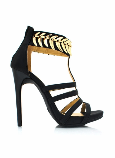 On The Spine Faux Nubuck Heels