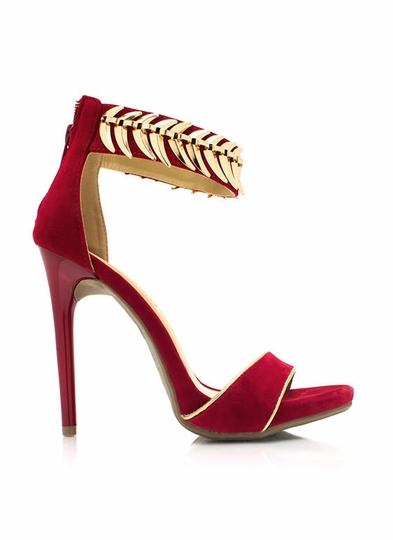 On The Spine Faux Suede Heels