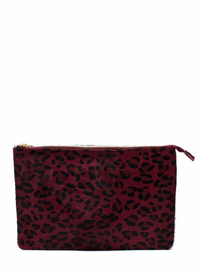 One Fur All Leopard Clutch
