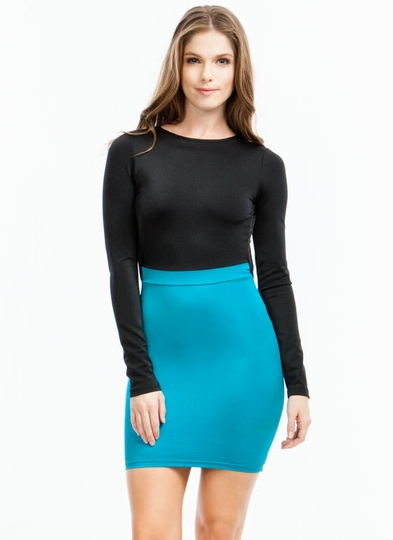 Open Back Colorblock Dress
