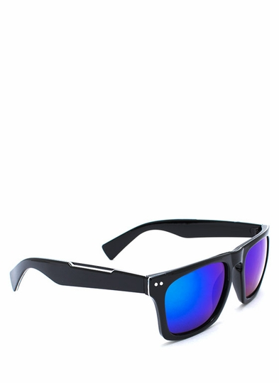 Outline Reflective Lens Sunglasses