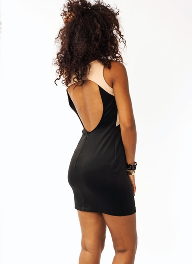 Overlapped Bodycon Dress