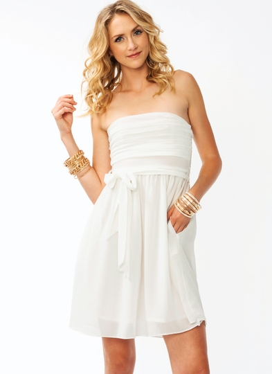 Overlapping Chiffon Dress