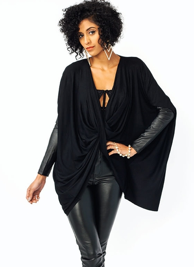 Oversized Draped Top
