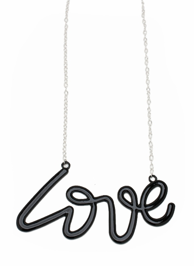 Oversized Love Charm Necklace